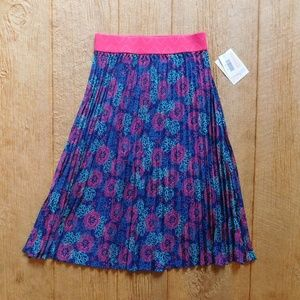 Lularoe Jill Skirt Navy blue pink